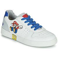 Schuhe Jungen Sneaker Low Geox DJROCK Weiss / Blau