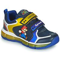Schuhe Jungen Sneaker Low Geox ANDROID Blau / Gelb