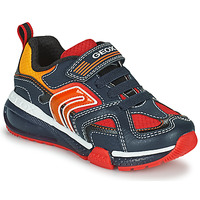 Schuhe Jungen Sneaker Low Geox BAYONYC Marine / Orange