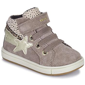 Schuhe Mädchen Sneaker High Geox TROTTOLA Beige