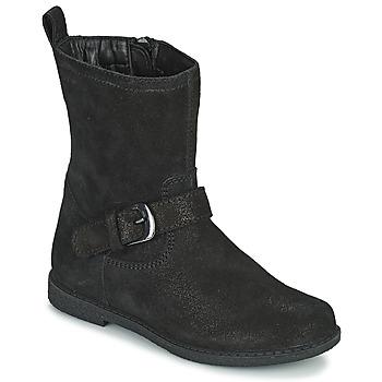 Schuhe Mädchen Klassische Stiefel Geox SHAWNTEL Schwarz