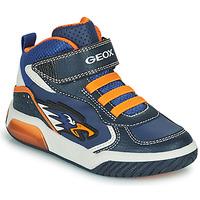 Schuhe Jungen Sneaker High Geox INEK Marine / Orange