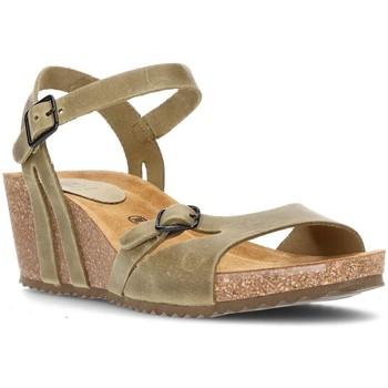 Schuhe Damen Sandalen / Sandaletten Interbios W komfortablen Keil Sandalen KAKI