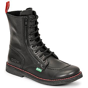 Schuhe Damen Klassische Stiefel Kickers MEETICKZIP Schwarz