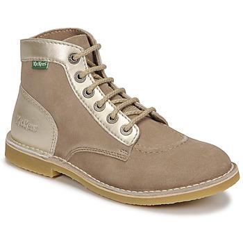 Schuhe Damen Boots Kickers ORILEGEND Beige