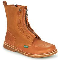 Schuhe Damen Boots Kickers MEETICKROCK Camel