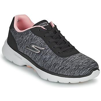 Schuhe Damen Sneaker Low Skechers GO WALK 6 Grau / Rose
