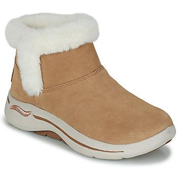 Schuhe Damen Boots Skechers GO WALK ARCH FIT Braun