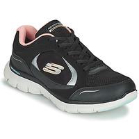 Schuhe Damen Sneaker Low Skechers FLEX APPEAL 4.0 Schwarz / Rose