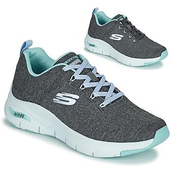 Schuhe Damen Sneaker Low Skechers ARCH FIT Grau / Blau