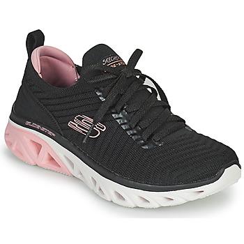 Schuhe Damen Sneaker Low Skechers GLIDE-STEP SPORT Schwarz / Rose