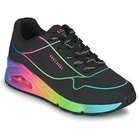 Schuhe Damen Sneaker Low Skechers UNO Schwarz / Multicolor