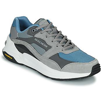 Schuhe Herren Sneaker Low Skechers GLOBAL JOGGER Grau / Blau