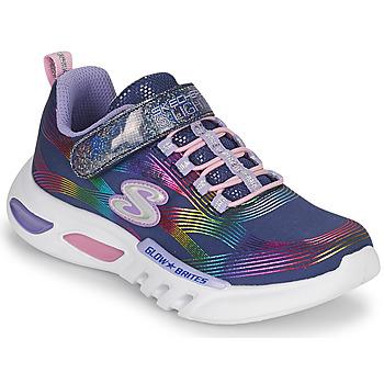 Schuhe Mädchen Sneaker Low Skechers GLOW-BRITES Marine /  led