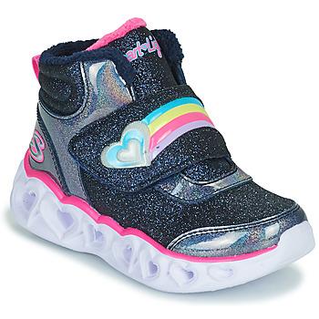 Schuhe Mädchen Sneaker High Skechers HEART LIGHTS Marine /  led
