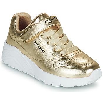 Schuhe Mädchen Sneaker Low Skechers UNO LITE Gold