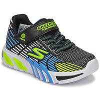 Schuhe Jungen Sneaker Low Skechers FLEX-GLOW ELITE Schwarz / Blau /  led