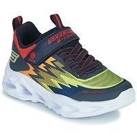 Schuhe Jungen Sneaker Low Skechers VORTEX-FLASH Blau / Orange