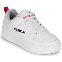 Schuhe Kinder Sneaker Low Skechers SPORT COURT 92 Weiss