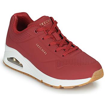 Schuhe Damen Sneaker Low Skechers UNO STAND ON AIR Rot
