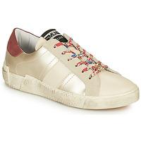 Schuhe Damen Sneaker Low Meline NKC1381 Weiss