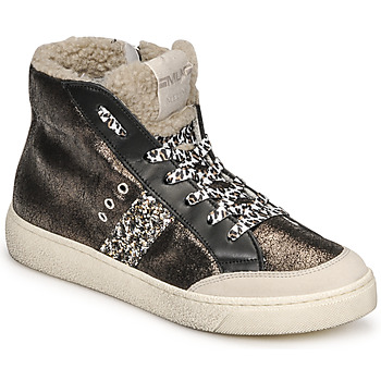 Schuhe Damen Sneaker High Meline CAR1425 Schwarz