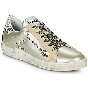 Schuhe Damen Sneaker Low Meline NK139 Gold