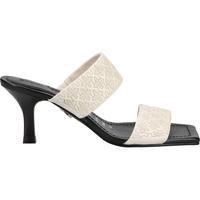 Schuhe Damen Pantoffel Bronx Pantoletten Schwarz/Weiß