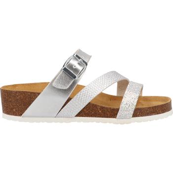 Schuhe Damen Pantoffel Cosmos Comfort Pantoletten Silber