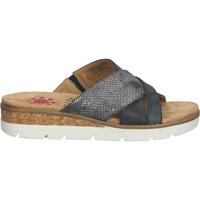 Schuhe Damen Pantoffel Relife Pantoletten Blau