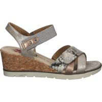 Schuhe Damen Sandalen / Sandaletten Relife Sandalen Braun/Silber