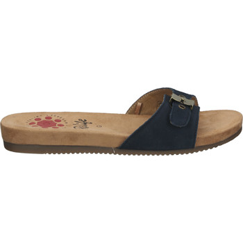 Schuhe Damen Pantoffel Relife Pantoletten Dunkelblau