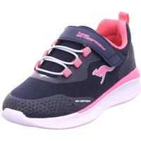 Schuhe Mädchen Sneaker Low Kangaroos KQ-Fleet EV dk navy/fandango pink 4294