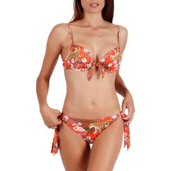 Kleidung Damen Bikini Admas 2-teiliges vorgeformtes Bikini-Set Jungle Fever orange Hautange