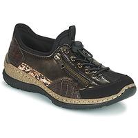 Schuhe Damen Sneaker Low Rieker ALINDA Bronze / Schwarz