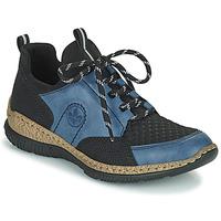 Schuhe Damen Sneaker Low Rieker MEDONNA Blau / Schwarz