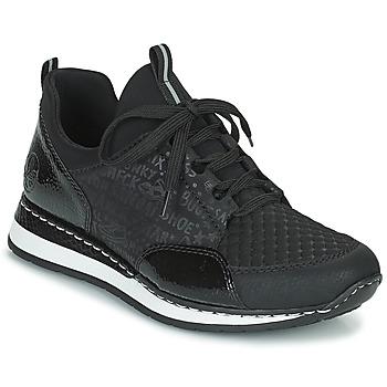 Schuhe Damen Sneaker Low Rieker REGARDA Schwarz