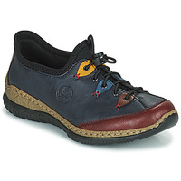 Schuhe Damen Derby-Schuhe Rieker ENCORRA Blau / Rot / Gelb