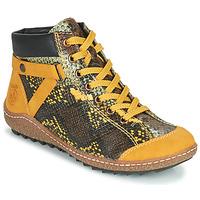 Schuhe Damen Boots Rieker LONGTER Gelb / Schwarz