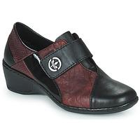 Schuhe Damen Slipper Rieker HANTAR Schwarz / Bordeaux
