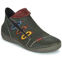 Schuhe Damen Boots Rieker GIMMA Grün / Rot / Gelb