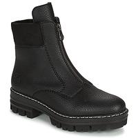 Schuhe Damen Boots Rieker QUAMIN Schwarz