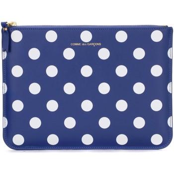 Taschen Portemonnaie Comme Des Garcons Etui von Comme Des Garçons Wallets Marineblau mit weissen Blue