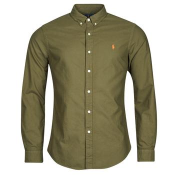 Kleidung Herren Langärmelige Hemden Polo Ralph Lauren DRISSY Kaki