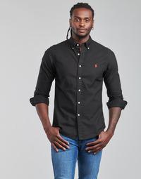 Kleidung Herren Langärmelige Hemden Polo Ralph Lauren CAMISETA Schwarz