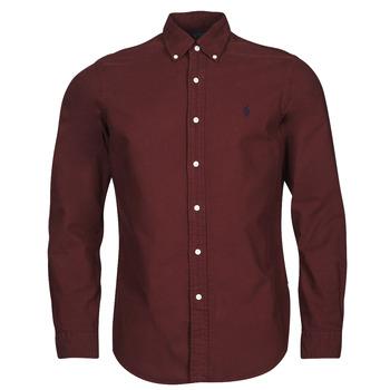 Kleidung Herren Langärmelige Hemden Polo Ralph Lauren KAOLMA Bordeaux