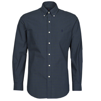 Kleidung Herren Langärmelige Hemden Polo Ralph Lauren RENIMA Grün / Blau