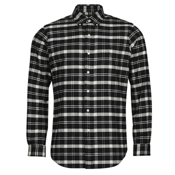 Kleidung Herren Langärmelige Hemden Polo Ralph Lauren PERINE Schwarz