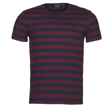 Kleidung Herren T-Shirts Polo Ralph Lauren POLINE Marine / Bordeaux