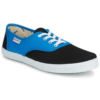 Schuhe Sneaker Low Victoria INGLESA BICOLOR Blau / Schwarz